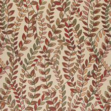 Load image into Gallery viewer, Essentials Cityscapes Coral Maroon Sage Pink Botanical Leaf Upholstery Fabric