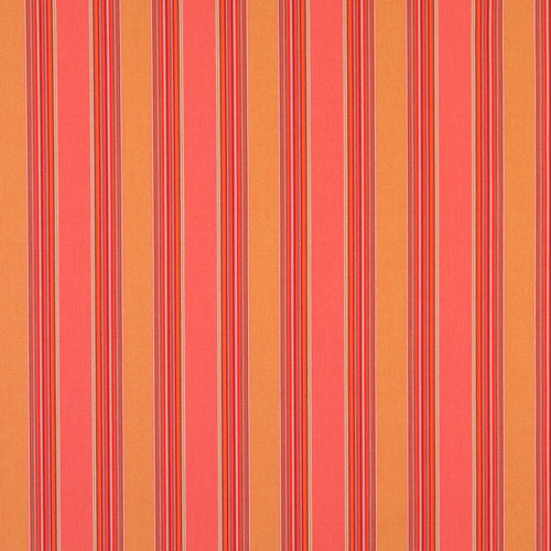 Essentials Outdoor Red Coral Stripe Upholstery Fabric