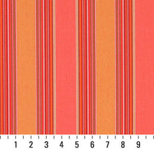 Load image into Gallery viewer, Essentials Outdoor Red Coral Orange Stripe Upholstery Fabric