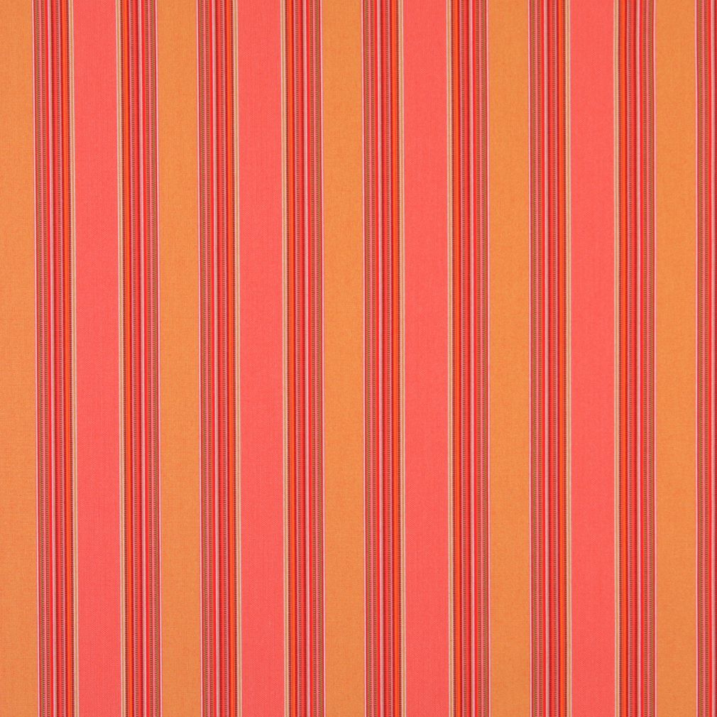 Essentials Outdoor Red Coral Orange Stripe Upholstery Fabric