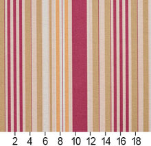 Load image into Gallery viewer, Essentials Crimson Salmon Beige Coral White Stripe Upholstery Drapery Fabric