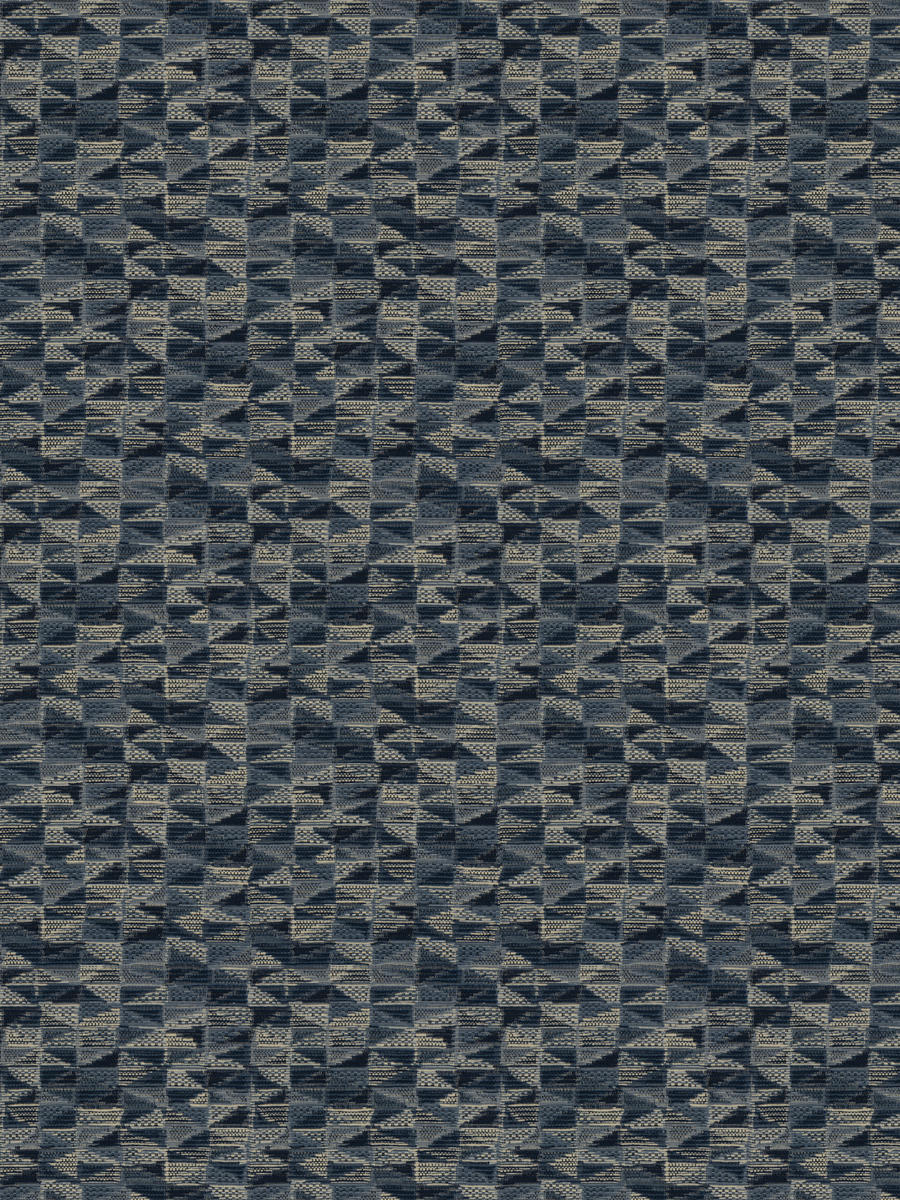 2 Colorways Geometric Abstract Upholstery Fabric Navy Blue Gray Beige