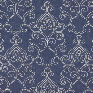 4 Colors Embroidered Drapery Fabric Beige Gray Blue Ivory Cream / RMIL13