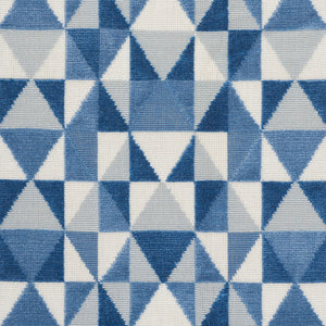 SCHUMACHER DESIGN 706 VELVET FABRIC / BLUES