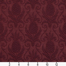 Load image into Gallery viewer, Essentials Heavy Duty Damask Upholstery Fabric / Burgundy