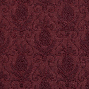 Essentials Heavy Duty Damask Upholstery Fabric / Burgundy