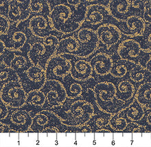 Load image into Gallery viewer, Essentials Heavy Duty Mid Century Modern Scotchgard Upholstery Fabric Dark Blue Gold Paisley / Navy
