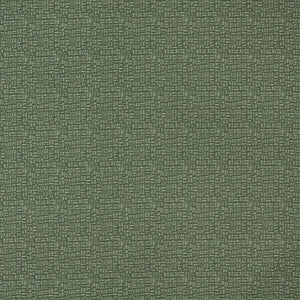 Essentials Dark Green Abstract Upholstery Fabric / Sage