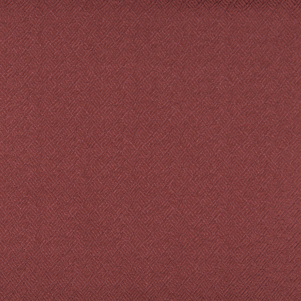 Essentials Heavy Duty Mid Century Modern Scotchgard Upholstery Fabric Dark Red Abstract / Maroon