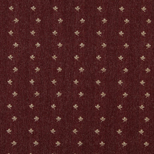 Essentials Dark Red Beige Upholstery Fabric / Burgundy Posey