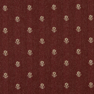 Essentials Dark Red Beige Upholstery Fabric / Spice Petal