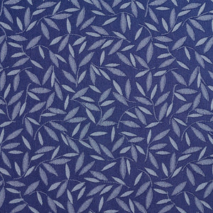 Essentials Denim Blue Leaf Branches Upholstery Drapery Fabric / Sapphire