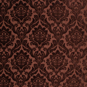 Damask Chenille Upholstery Drapery Fabric Brown / Espresso