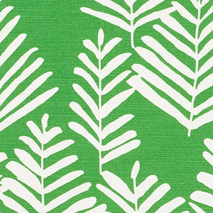 SCHUMACHER FERN SILHOUETTE FABRIC / GREEN
