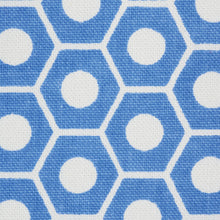 Load image into Gallery viewer, SCHUMACHER QUEEN B FABRIC / FRENCH BLUE