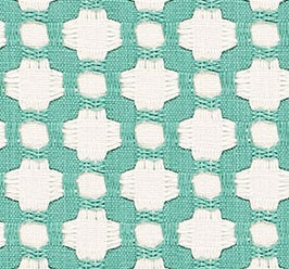 Schumacher Betwixt fabric / Pool / Natural
