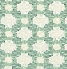 Schumacher Betwixt fabric /  Water/Ivory