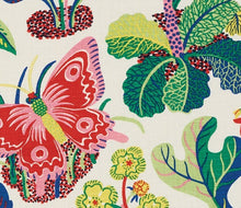 Load image into Gallery viewer, Schumacher exotic butterfly fabric / Spring