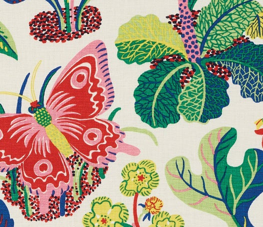 Schumacher exotic butterfly fabric / Spring