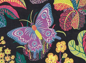 Schumacher exotic butterfly fabric / Black