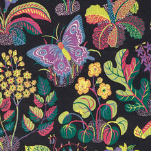 Load image into Gallery viewer, Schumacher exotic butterfly fabric / Black