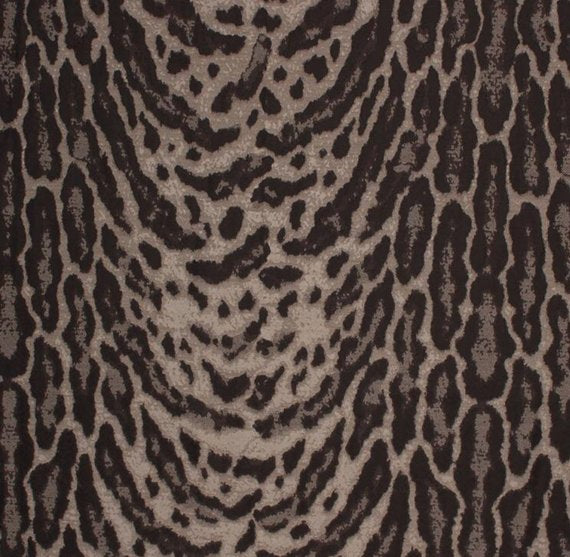 Faux Ocelot Cheetah Animal Pattern Jaguar Jungle Tribal Fabric / Carbon