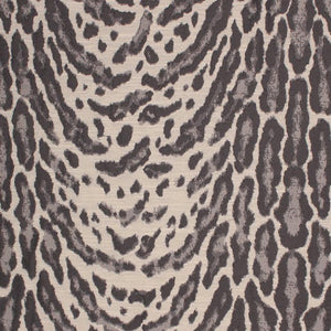 Faux Ocelot Cheetah Animal Pattern Jaguar Jungle Tribal Gray Charcoal Fabric / Graphite