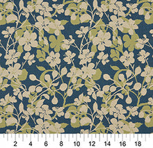 Load image into Gallery viewer, Essentials Outdoor Upholstery Drapery Floral Fabric / Blue Olive Beige