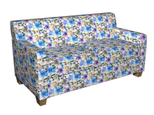 Load image into Gallery viewer, Essentials Drapery Upholstery Floral Print Fabric / Blue Purple White