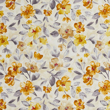Load image into Gallery viewer, Essentials Drapery Upholstery Floral Fabric / Gold Gray Beige