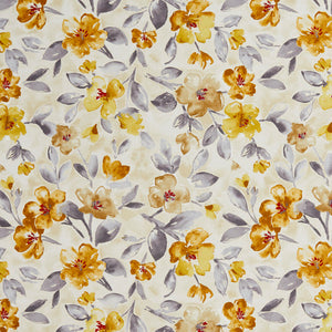 Essentials Drapery Upholstery Floral Fabric / Gold Gray Beige