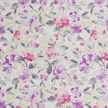 Load image into Gallery viewer, Essentials Drapery Upholstery Floral Fabric / Purple Crimson Navy