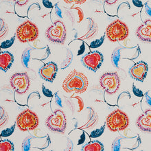 Load image into Gallery viewer, Essentials Drapery Upholstery Floral Fabric / Red Blue White