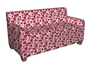 Essentials Drapery Upholstery Floral Fabric / Red Fuchsia White