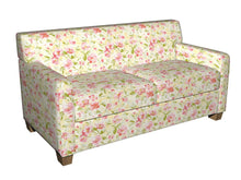 Load image into Gallery viewer, Essentials Drapery Upholstery Floral Fabric / Salmon Lime Yellow