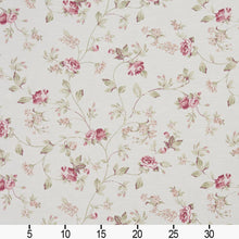 Load image into Gallery viewer, Essentials Heavy Duty Floral Upholstery Drapery Fabric / White Burgundy Green