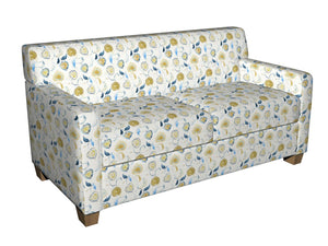 Essentials Drapery Upholstery Floral Fabric / Yellow Blue White