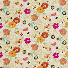Load image into Gallery viewer, Essentials Drapery Upholstery Floral Print Fabric / Yellow Fuchsia White