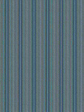 Load image into Gallery viewer, 2 Colorways Geometric Upholstery Stripe Fabric Blue Green Beige