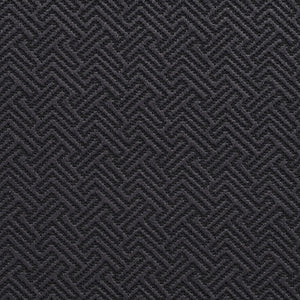 Essentials Upholstery Drapery Fret Fabric / Black