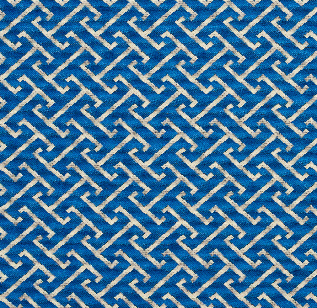 Essentials Outdoor Upholstery Drapery Fret Fabric / Blue