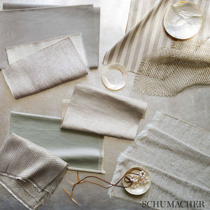 SCHUMACHER ZORAN SATIN FABRIC / GLACIER