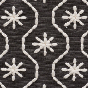 SCHUMACHER GIGI EMBROIDERY FABRIC / GRAPHITE