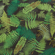 Load image into Gallery viewer, SCHUMACHER FERNARIUM FABRIC / GREEN & BLACK