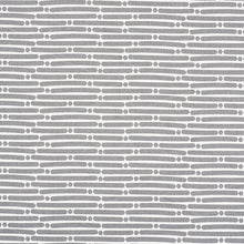 Load image into Gallery viewer, SCHUMACHER DOT DASH FABRIC / GREY