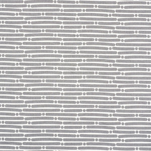 SCHUMACHER DOT DASH FABRIC / GREY