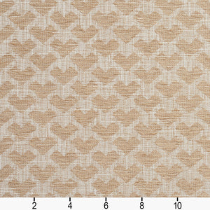 Essentials Heavy Duty Upholstery Drapery Geometric Fabric / Beige