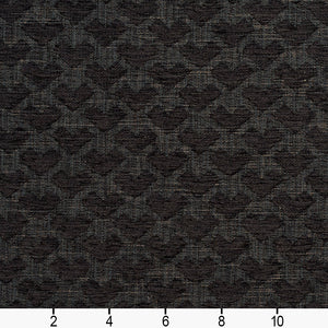 Essentials Heavy Duty Upholstery Drapery Geometric Fabric / Black