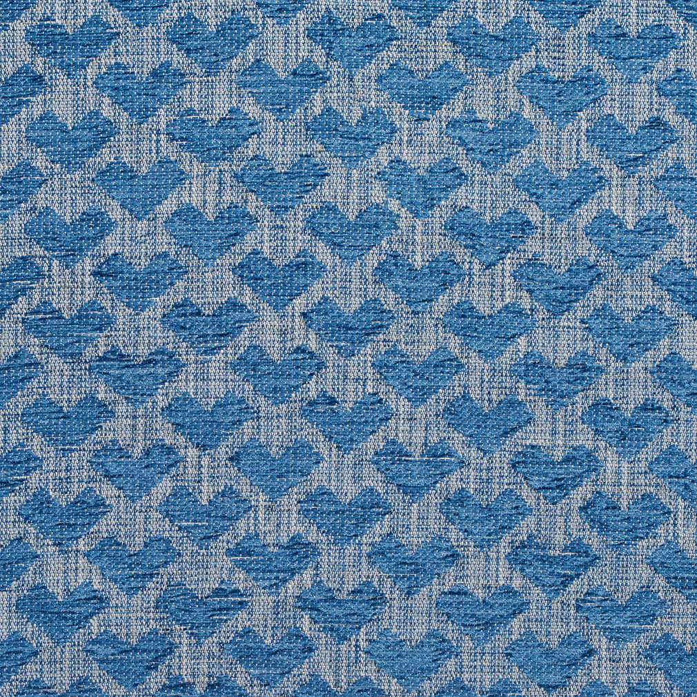 Essentials Heavy Duty Upholstery Drapery Geometric Fabric / Blue