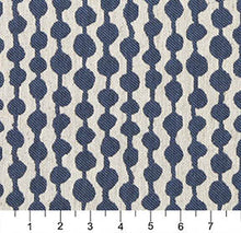 Load image into Gallery viewer, Essentials Heavy Duty Upholstery Geometric Fabric / Blue White